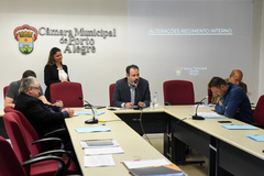 Comissão exibe apresentação do Grupo de Trabalho a respeito da reforma do Regimento da CMPA.