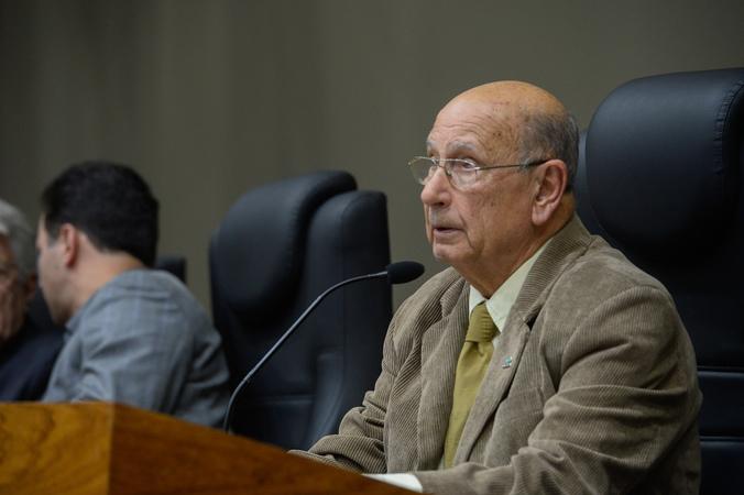 Outorga do Título de Cidadão de Porto Alegre ao Senhor Luiz Carlos Bohn. Na foto: vereador Reginaldo Pujol.