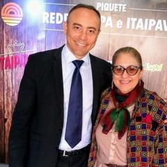 Vereadora Lourdes com Alexandre Gadret