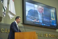Entrevista do prefeito foi citada na tribuna do plenário, na tarde desta segunda-feira