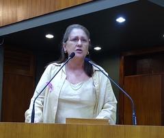 Vereadora Lourdes na tribuna