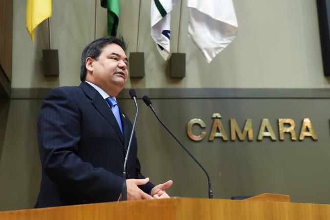 Movimentação de Plenário. Na foto: vereador Prof. Wambert di Lorenzo