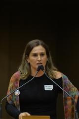Homenagem aos 50 anos da Escola Municipal de Ensino Infantil Maria Marques Fernandes. Na foto, vice-diretora da Escola Municipal de Ensino Infantil Maria Marques Fernandes, Isabel Anzolin.