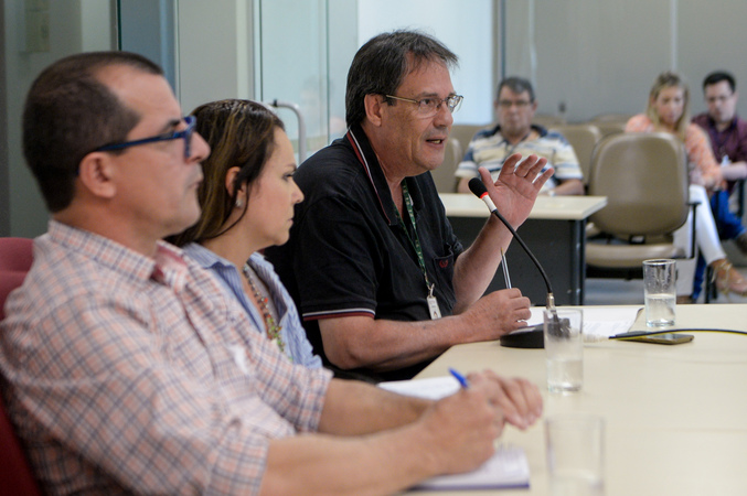 Oitivas da Comissão Especial de Prédios Abandonados. Na foto, com a fala, o Sr. Jorge Furtado, representando o DEMHAB.