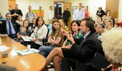 Comissão se reune com o TRT-4 e demais representantes para debater sobre a situação do IMESF. Com a fala vereador Aldacir Oliboni.