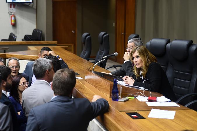 Movimentação de plenário. Presidente Mônica Leal e lideranças.
