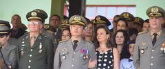 Presidente Monica leal participa das comemorações de 182 Anos da Brigada Militar.