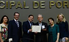 Sessão Solene de outorga da Comenda Porto do Sol ao Pastor Samuel Dietrich Espíndola.