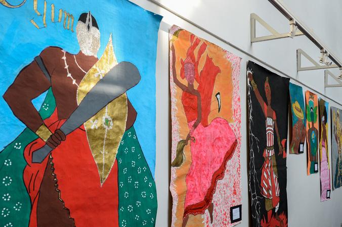 """Exposição """"O Sagrado na Cultura Negra, Orixás e suas Representações."""