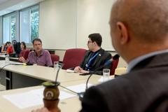 Comissão Especial de Prédios Abandonados debate a gestão dos órgãos municipais. Na foto, com a fala, o Sr. Jorge Furtado, representando o DEMHAB.
