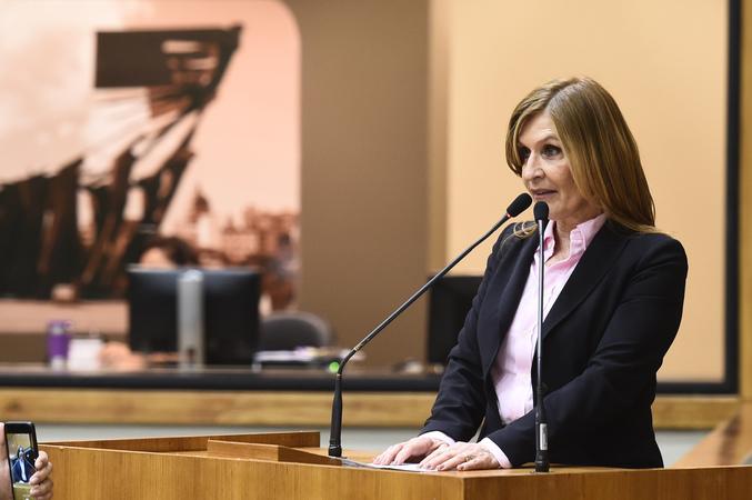 Presidente Mônica Leal na tribuna