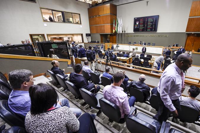 Votação do projeto de lei que regulamenta o funcionamento do transporte público via aplicativos de internet