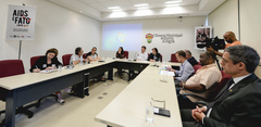 Comissão debate o contexto epidemiológico e politicas públicas para o enfrentamento da HIV/AIDS.