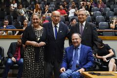 Eleição da Mesa Diretora 2020. Na foto, vereadora Lourdes Sprenger e vereadores Reginaldo Pujol, João Carlos Nedel e Paulo Brum