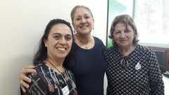 Vereadora Lourdes Sprenger e representantes da Associação Lar da Amizade