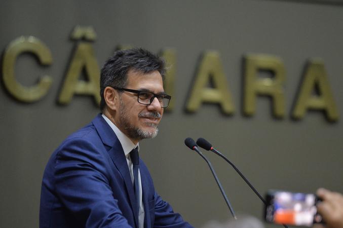 Sessão Solene de outorga do Título de Cidadão Emérito de Porto Alegre ao Senhor Cesar Fernando da Silva Paz. Na foto, Cesar Fernando da Silva Paz.