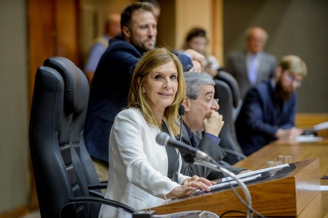 Movimentação de Plenário. Na foto, a Presidente Mônica Leal.