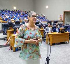Vereadora em Plenário, na CPI
