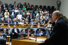 Sessão Especial de posse do vereador Reginaldo Pujol na presidência da Casa.