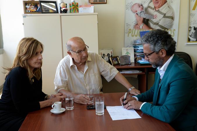 Presidente Reginaldo Pujol recebe a visita do Deputado Estadual Frederico Antunes.