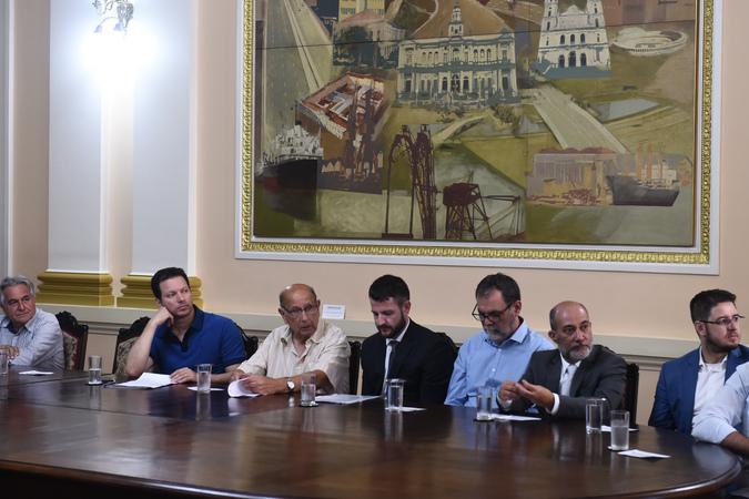 Presidente Reginaldo Pujol participa do Ato de Lançamento do Edital de Concessão do Trecho 2 da Orla do Guaíba.