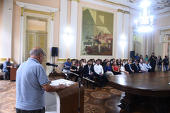 Presidente Reginaldo Pujol participa do Ato de Sanção das Leis que criam o Programa de Residência Jurídica e o Programa de Residência Técnico Superior da Prefeitura.