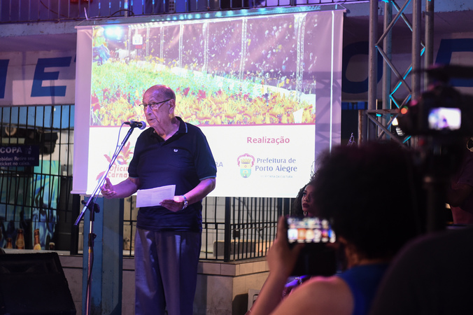 Presidente Reginaldo Pujol participa do Ato de Lançamento do Programa Oficinas do Carnaval. (Foto: Ederson Nunes/CMPA)