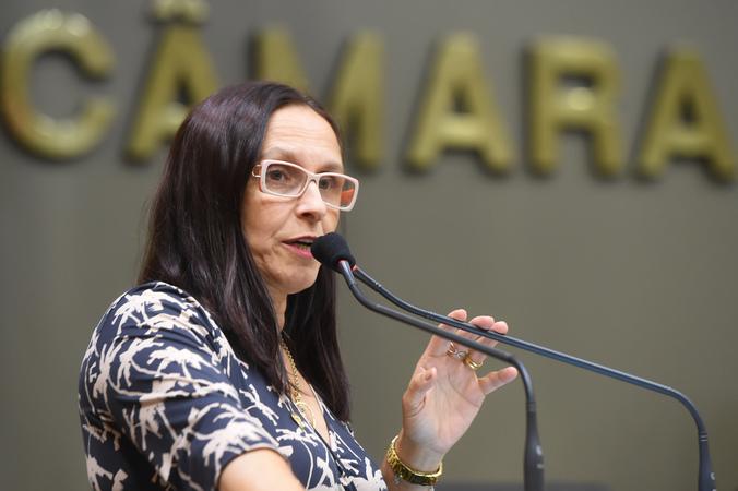 Votação do projeto que denomina como Museu Tarciso Flecha Negra o museu do negro de Porto Alegre. Na foto: vereadora autora Cláudia Araújo