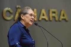 Movimentações no Plenário. Na foto: vereadora Lourdes Sprenger