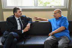 Presidente Reginaldo Pujol recebe Presidente da Assossiação Brasileira de Tanatopraxia e Tanatologia, Sr. Paulo Coelho.