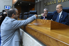 Posse do vereador suplente Filipe Tisbierek.