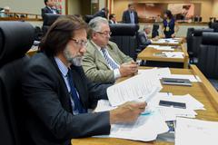 Movimentações em Plenário. Na foto: vereador Aldacir Oliboni.
