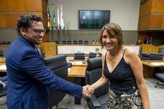 Vereador Dr. Marcelo Rocha (PSOL) e vereadora Comandante Nádia (MDB)