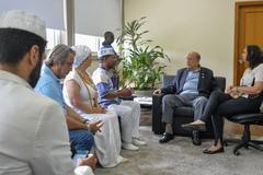 Representantes da Casa Fihos do Axé Ogum Já estiveram nesta sexta-feira com Reginaldo Pujol