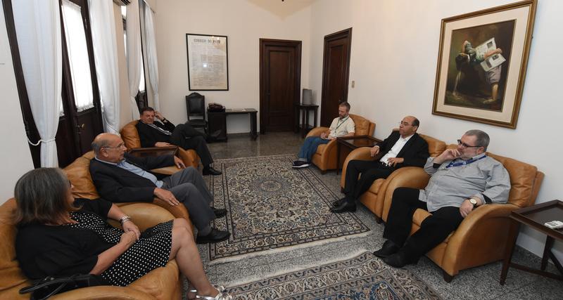 Presidente Reginaldo Pujol realiza visita ao Jornal Correio do Povo.