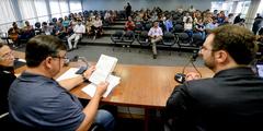 Audiência Pública de apresentação do Relatório de Gestão da Saúde, em âmbito municipal, do 3º Quadrimestre de 2019. Com a fala, o vereador José Freitas.