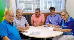 Lideranças no gabinete da vereadora Lourdes