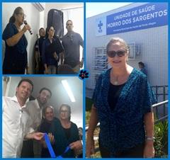 Vereadora Lourdes na Unidade de Saúde da Vila dos Sargentos
