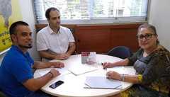 Vereadora Lourdes com dirigentes da Associação de Escultores