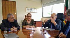 Vereadora Lourdes em reunião da Mesa Diretora em 31 de janeiro