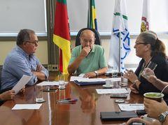 Vereadora Lourdes na reunião da Mesa Diretora do dia 5 de fevereiro/2020