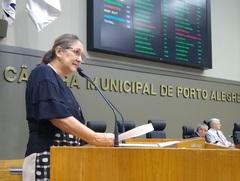 Vereadora Lourdes na Tribuna da Câmara em 06.02.20