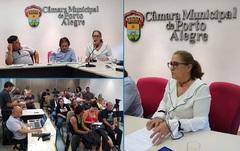 Vereadora Lourdes na reunião da Cosmam em 11/02/20