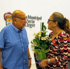 Vereadora Lourdes na Câmara, no dia 12/02/20
