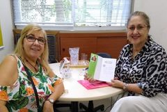 Vereadora Lourdes com a escritora Marisa Kras Borges