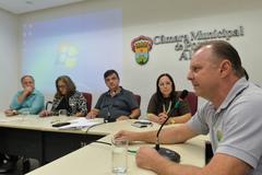 Comissão debate situação de descarte do lixo eletrôlico em Porto Alegre. Com a fala, o representante da IZN Recicle Brasil Giovane Nardini.