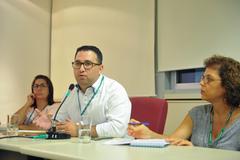 Comissão debate a situação da Ocupação Recanto da Alegria, localizada no Bairro Humaitá. Na foto, representante do Demhab