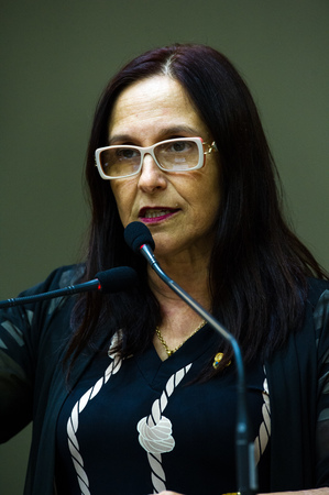 Retrato. Vereadora Cláudia Araújo.