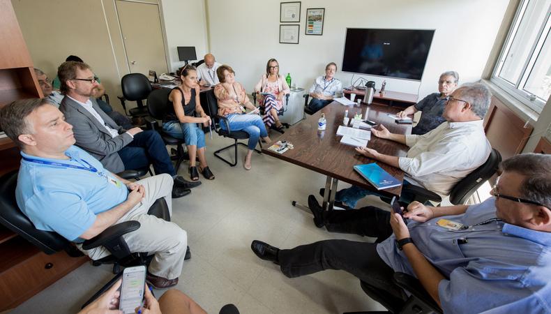 Reunião da diretoria geral da Câmara para debater providências sobre Coronavírus.