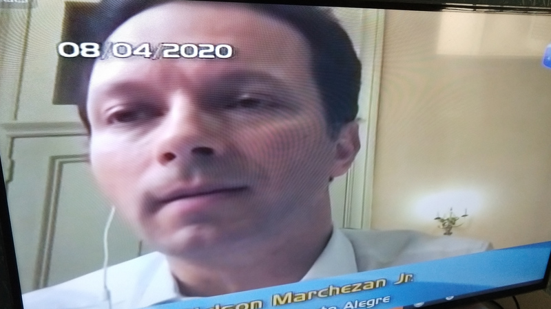 Reunião virtual dos vereadores com o prefeito e secretário de Saúde.
